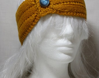 Vintage Style Headband/Earwarmer in Harvest Gold