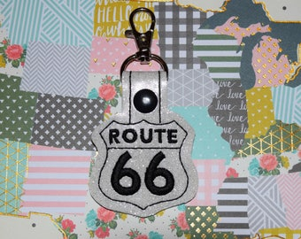Route 66 Highway Sign Keychain