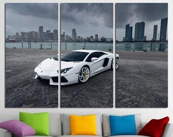 Lamborghini Aventador Lamborghini print Lamborghini canvas Lamborghini poster Lamborghini Art Lamborghini Wall Art Top Gear Sport Cars Print