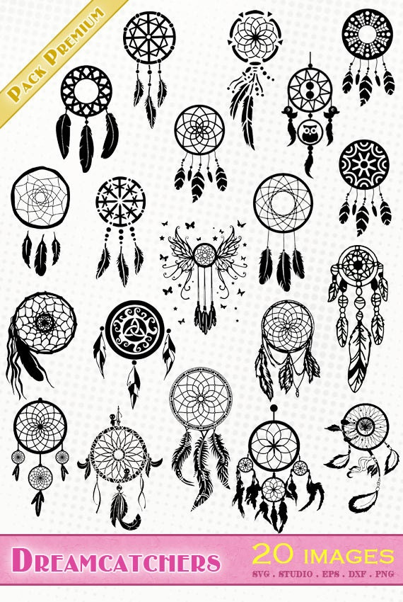 traumf nger dreamcatchers 20 png svg eps dxf studio. Black Bedroom Furniture Sets. Home Design Ideas