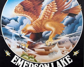 Vintage 1974 Emerson Lake and Palmer Concert Poster A3 Print