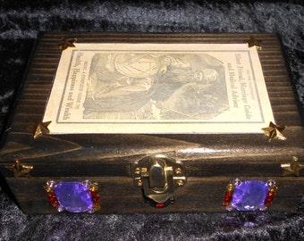 Tarot card box, Angel card box, Keepsake box, Jewelry travel box.