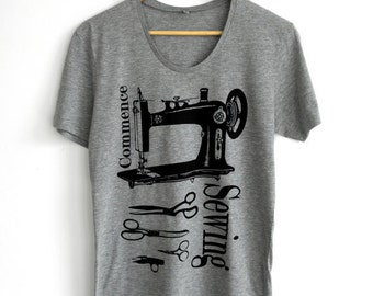 Womens T Shirts, Sewing Tshirt, Fair Wear Tshirt, Sewing Machine Print, Sewing T Shirt, Teacher Tshirts, Screen Print Tshirt, Printed Tshirt