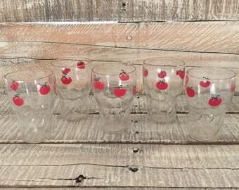 Vintage Juice Glasses, Vintage Glasses, Drinking Glasses,