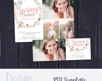 Spring Mini Session Template, Photography Template, Mini Session Marketing, Marketing for Photographers, Photography Marketing, Digital File