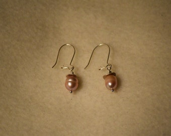 Pink Freshwater Pearl Earrings
