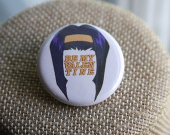 Be My Valentine Button, Faye Valentine Button, Cowboy Bebop Button