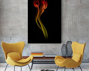 Colored Smoke Fine Art Metal Print