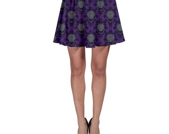 Labyrinth Skirt - Purple Door Knocker Damask Skirt Door Knocker Skirt Skater Skirt Comicon Skirt Geeky Skirt Plus Size Skirt