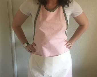 Women's apron - pink apron - upcycled fabric apron - women's gift