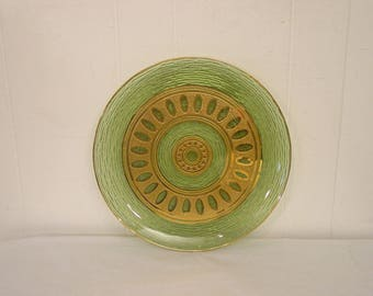 Culver glass, Culver glass plate, 24k gold glass plate, vintage glass