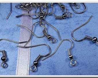 150 Silver earrings earwire hook for 75 21 x 18 mm silver plated earrings hooks pins