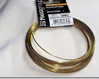 3 m 1 0.6-0.8-mm brass wire for jewelry, brass jewelry, hobby craft, brass wire.