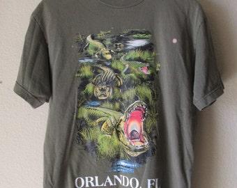 Vintage Florida T-shirt, State T-shirt, Alligators, Orlando Florida, Florida Tee, Gator T-shirt, Gators, Florida T-shirt, Florida State,