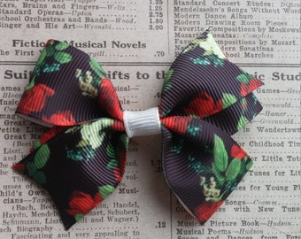 Red Rose Hair Bow, hair accessories, girls hair bow, party favors