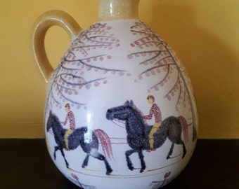 Rare Hedwig Bollhagen Keramik  Horse and Carriage Vase