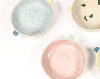 C O U P E L L E / / Cup background speckled / ear Breton lug Bowl / cookie serving / sweets / ice cream / bowl