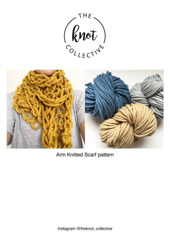 Arm Knitted Scarf Pdf Pattern