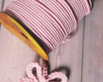 PINK cord- macrame cord- macrame cord- rope cord- macrame cord- knitting supplies- knitting yarn- crochet rope- yarn 200 meters of cord #42