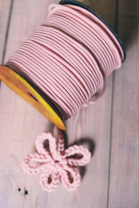 PINK cord- chunky yarn- diy projects- craft projects- rope cord- macrame cord- knitting supplies- knitting yarn- crochet rope- yarn #42