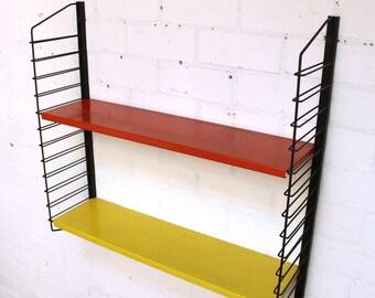 Retro industrial Drentea wall unit book shelves, 1950s