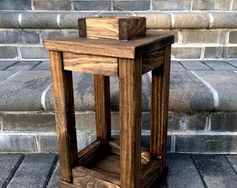 Handmade Outdoor Lantern / Custom Made Lantern / Rustic Lantern / Deck Lantern / Porch Lantern