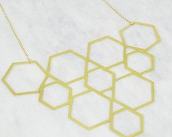 Statement Hexagon Necklace
