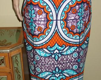 African Maxi Skirts  Ankara Print Skirts African Clothing