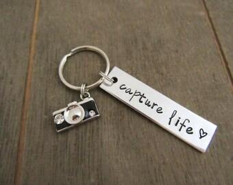Wedding Photographer Gift - Capture Life Keychain - Camera Charm