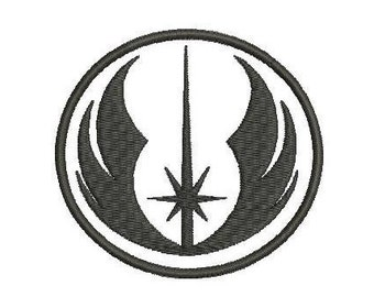 6 sizes - Star Wars Jedi Symbol Embroidery Design, Star Wars Embroidery Design, Jedi Embroidery Design, Instant Download, Rebel alliance