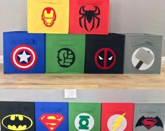 Superhero Cube Storage Bins