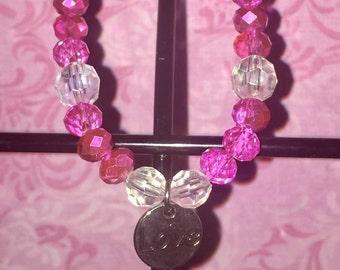 Pink Love Beaded Bracelet