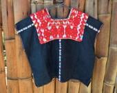 Authentic Guatemalan Style Huipil l Cotton Huipil l Indigenous Art l Hand Embroidered l Ethnic Clothing l Bohemian Blouse l Vintage Style