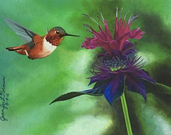 Hummingbird Art, Hummingbird, Hummingbird Wall Art, Home Decor, Wall Art, Art for my House, Gifts for her, Gifts for mom, Birthday Gift
