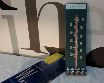 Vintage Taylor Indoor Thermometer Wall Mount        FREE SHIPPING