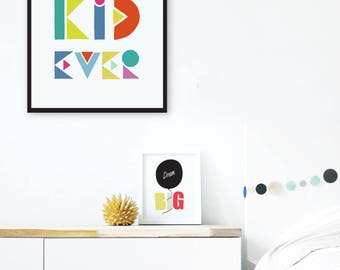 best kid ever printable nursery art baby boy nursery wall print scandi nursery