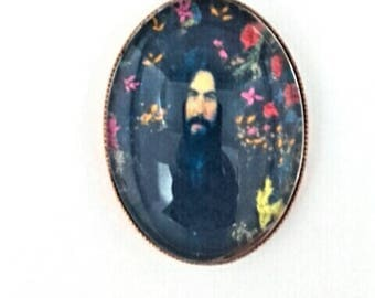 George Harrison hand embroidered brooch