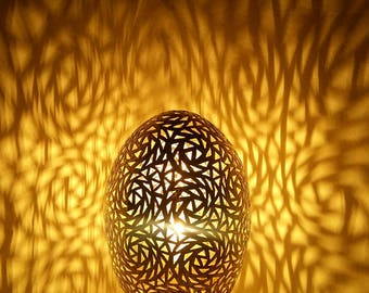 Brass copper Nightlight - table lamp - table egg - great - handmade - 20% OFF