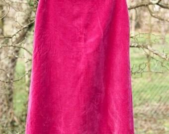 SALE Cyclamen Pink Velvet Skirt