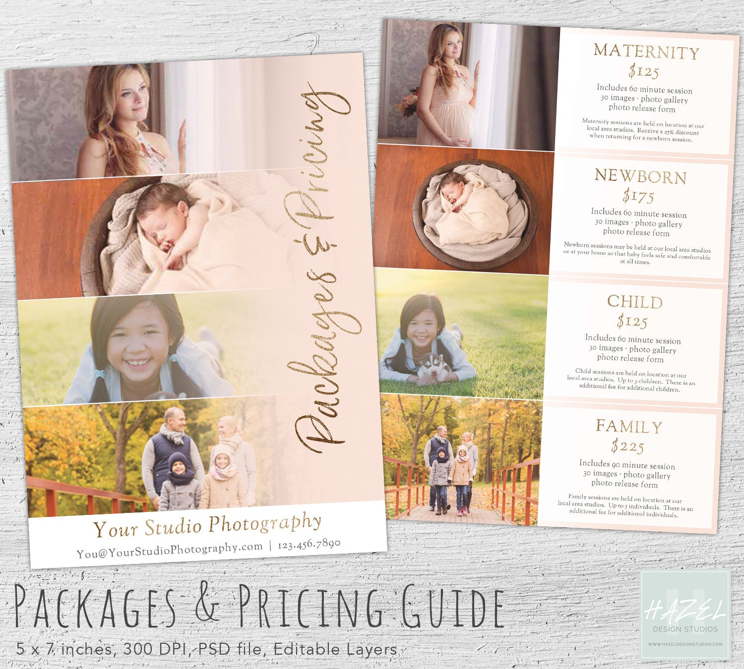 Photography Pricing Guide, Photoshop Template, Marketing, Price ...