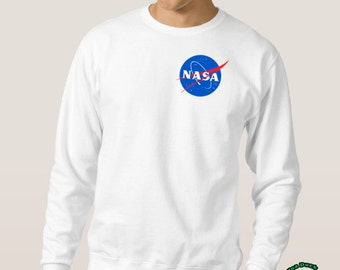 NASA Sweater, NASA Mini Logo High Quality Soft Unisex Crew Neck Sweatshirt, Sweater, Pullover Shirt Gift Present