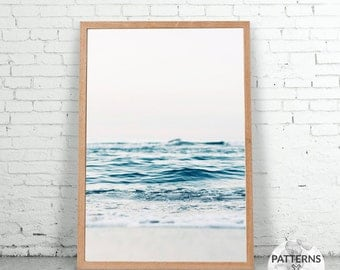 Ocean print - Minimalist beach print- Printable Wall art - Digital print - Modern Scandinavian design - Photography