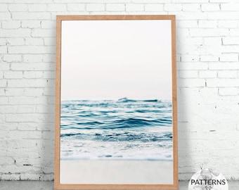 Ocean print - Minimalist beach print- Printable Wall art - Digital print - Modern Scandinavian design - Photography