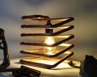Copper spring; modern; copper; spring; edison; vintage; design; lamp;