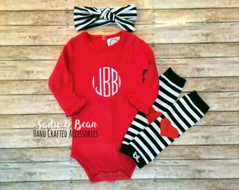 Monogram Baby outfit, Monogram girl Outfit, Monogrammed toddler outfit, personalized shirt, monogrammed girls Shirt, going home outfit