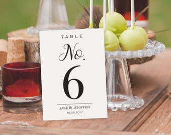 Wedding Table Numbers - Printable Table Numbers -  Printable Wedding - DIY Table Card -  Rustic Table Numbers - Seating Table Cards #WDH0246