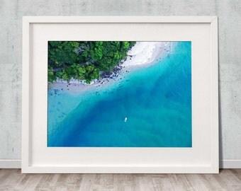 Tallebudgera Creek - Fine Art Print, Wall Art, Drone, Aerial, Photography, Home Decor, Ocean, Beach, Poster