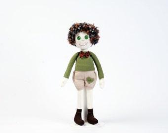 Textile doll Boy Doll Soft toy for kids Cute soft doll Gift for kids Gift for boy Plushie doll Fabric doll Rag doll Cloth doll Stuffed doll