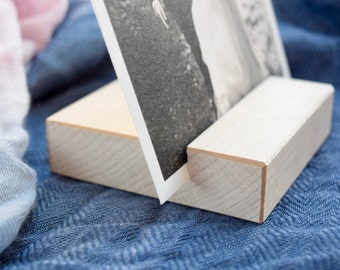 Maple Photo Stand   Wood Picture Holder   Photo Print Stand   Light Wood Photo Display Stand   Photo Block   Photo Gift   Minimalism gift