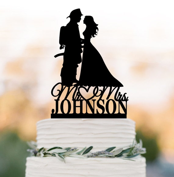 Firefighter Wedding: Personelzed Fireman Wedding Cake Topper Groom Letter Bride